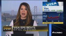 Visa beats the Street