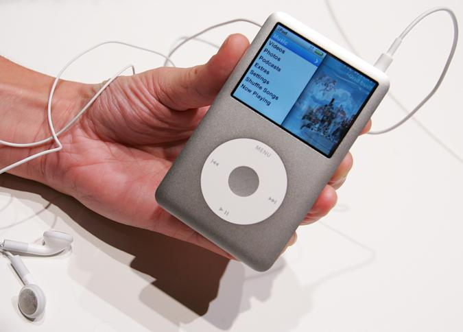 LONDON - SEPTEMBER 05:  The new Ipod Classic is held at the UK launch of the product at the BBC on September 5, 2007 in London, England. Steve Jobs spoke to the press at the launch of the new Ipod Touch in San Francisco  (Photo by Cate Gillon/Getty Images)