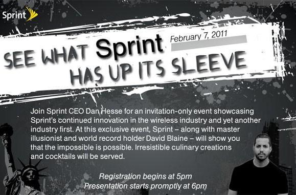 Sprint promises 'industry first' at February 7th event