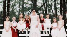 Einfach entzückend: Weshalb an der Hochzeit dieser Braut 15 Kinder beteiligt waren