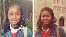 Girl, 8, dresses as hero Michelle Obama, and it's priceless