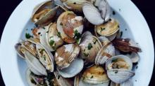 Grilled Clams with Garlic Butter from'Feeding the Fire'