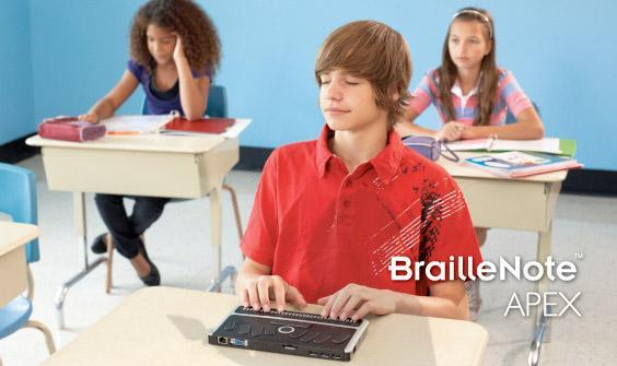 BrailleNote Apex claims to be the thinnest, lightest notetaker for the blind