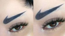 Nike swoosh eyebrows have this makeup artist wanting to 'just do it'