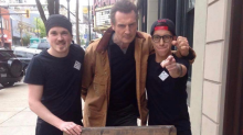 Liam Neeson turns up to restaurant which offers free food to Liam Neeson