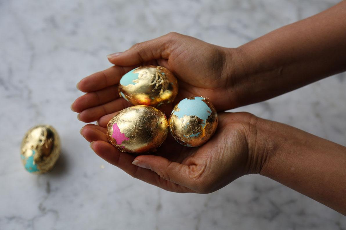 See Padma Lakshmis Insane Gold Leaf Easter Eggs No Pinterest Egg Circuit Will Makes Things Fails Here Honey