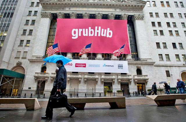 GrubHub and Yelp now offer delivery from over 80,000 restaurants