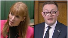 Astonishing moment Angela Rayner accused of calling Tory MP 'scum' in House of Commons