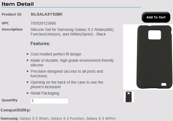 Samsung Galaxy S II US carrier names revealed: AT&T Attain, Verizon Function, and Sprint Within