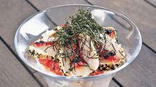 $135西貢燒夏威夷棘鰆魚生 日式沙律飯