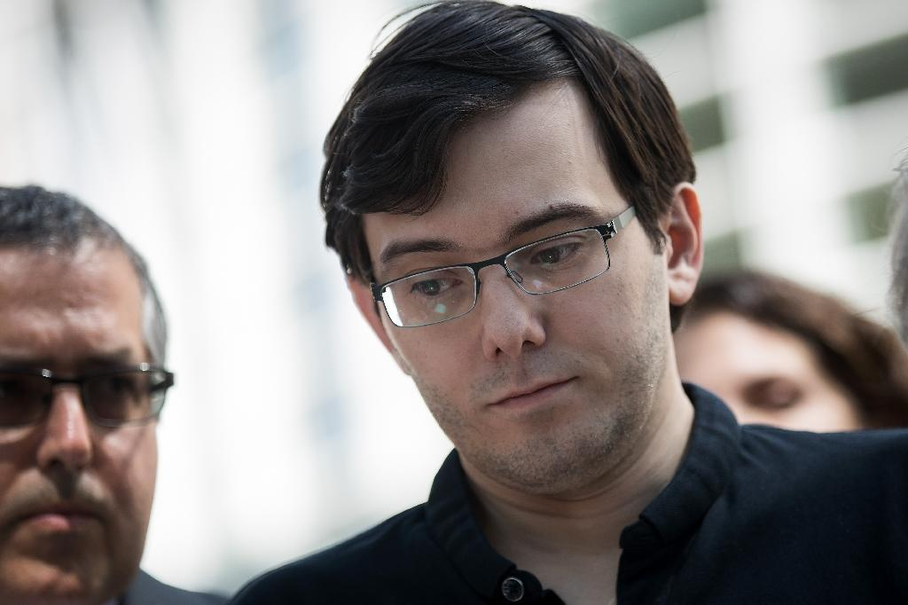 Pharmaceutical executive and hedge fund manager Martin Shkreli was sentenced to seven years' prison for defrauding investors (AFP Photo/Drew Angerer)