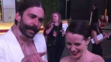 Claire Foy 'rescued' by Jonathan Van Ness after Emmys after party snub