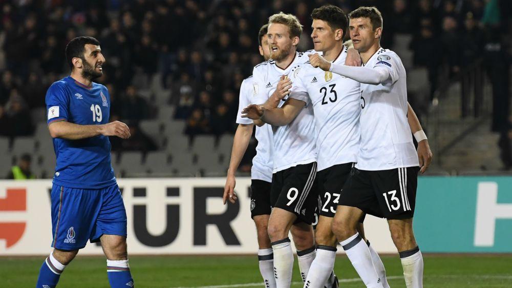 Alemania no tuvo problemas con Azerbaiyán