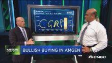Bullish options traders target Amgen, this energy ETF