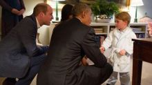Prince George Meets President Obama in His PJs and It's Too Adorable to Handle -- See the Pics!