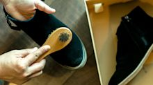 The £1 suede shoe cleaning hack you need to know about