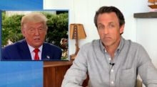 Seth Meyers on Trump's Cognitive Test: 'Possible This Is the First Test He Ever Passed' (Video)