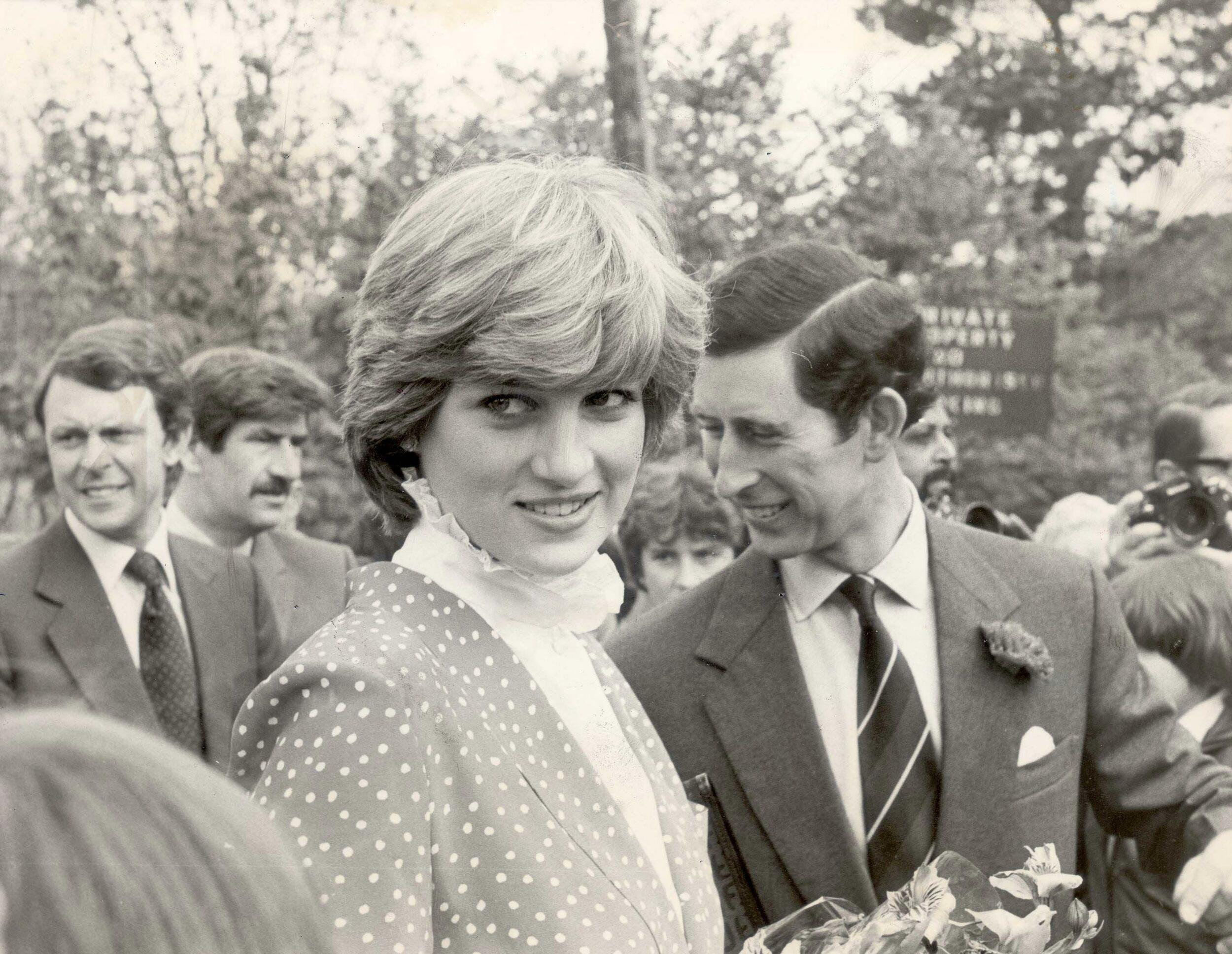 Charles and Diana as newlyweds.