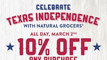 Natural Grocers Celebrates Texas Independence Day with a 10% Off Everything One-Day Sale!
