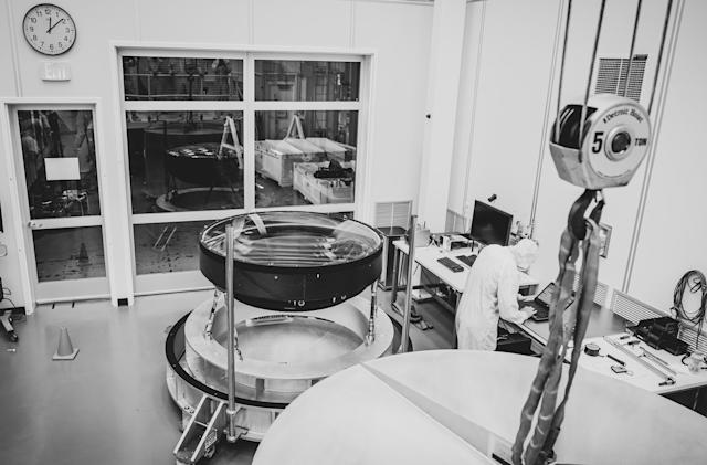 Moving the largest high-performance lens ever built