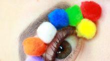 Pon-pon make-up, la moda più assurda del momento