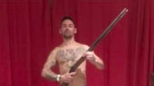 Man who posed topless with shotgun and posted anti-Muslim messages found guilty of stirring up religious hatred