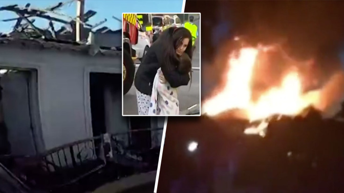Teen jumps from balcony to escape house fire