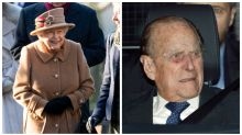 Queen seen at church without Prince Philip