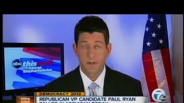 GOP VP nominee Paul Ryan to campaign in Michigan