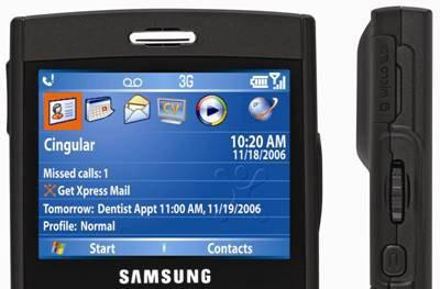Cingular's Samsung BlackJack i607, announced and reviewed