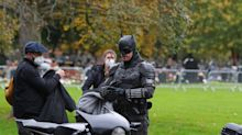 New look at Robert Pattinson's batsuit and batcycle in on-set pics from 'The Batman'
