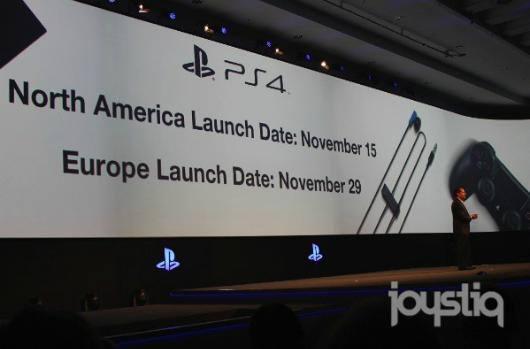 PS4 launch date: Nov. 15 in NA, Nov. 29 in Europe
