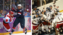 David Backes collects memorabilia from the 1980 Olympic Hockey Team