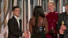 Rami Malek Talks 'Very Awkward' Viral Moment With Nicole Kidman at the Golden Globes