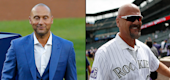 Derek Jeter, left, and Larry Walker have been voted into the Baseball Hall of Fame. (Getty Images/AP)