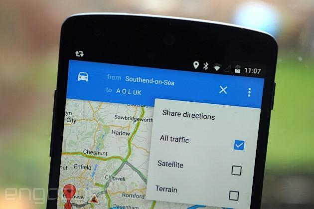 Google Maps for Android now lets you easily share directions