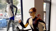 Victoria Beckham, Superhuman, Wears Stilettos on a Treadmill Run