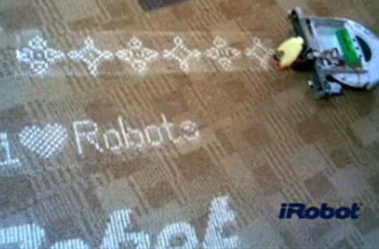 Video: Roomba hacked to trail sand on your floor