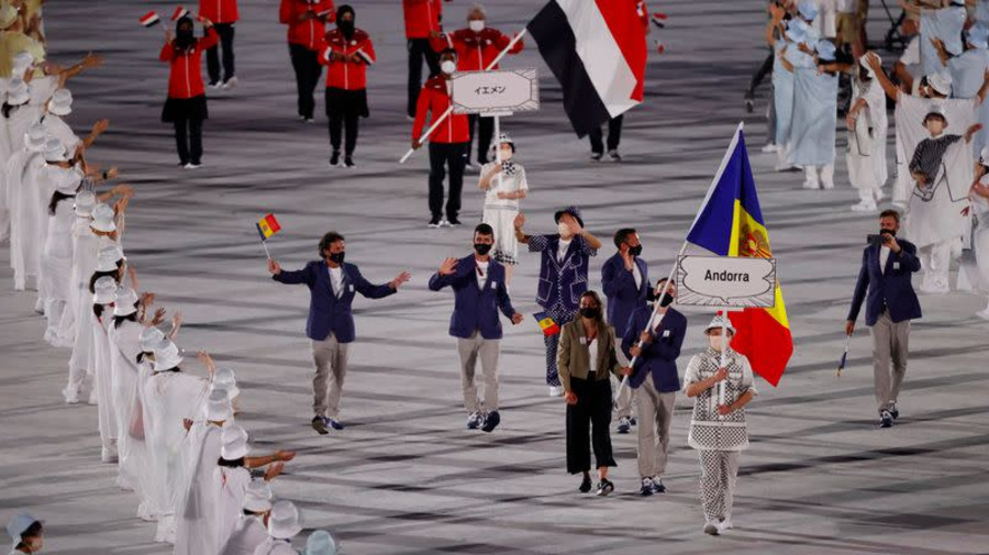 Primero Andorra y luego Yemen: alfabeto japonés da un orden único a desfile de apertura de los Juegos