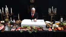 'Last Supper' artwork of feasting Netanyahu irks Israeli leader