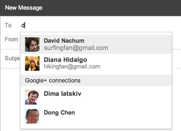 Gmail te permite ahora enviar correos a tus contactos de Google+