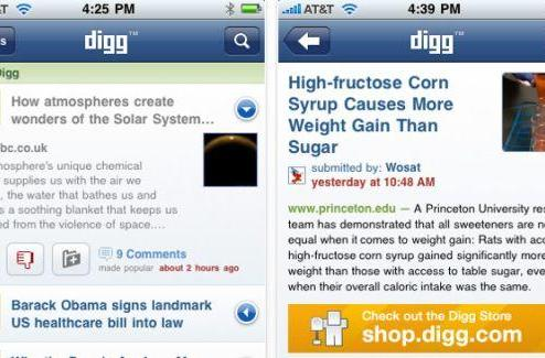 TUAW First Look: Digg's iPhone app