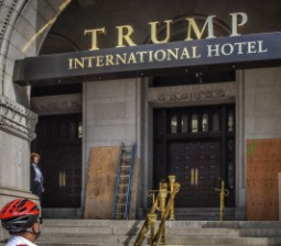 """New Trump Hotel in D.C. Defaced with """"Black Lives Matter"""" Graffiti"""