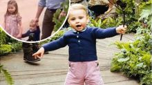 Princess Charlotte helps Prince Louis walk in adorable new video