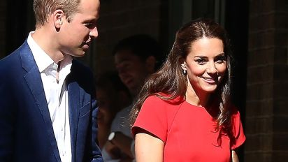 Kate Middleton steps out in pretty red dress
