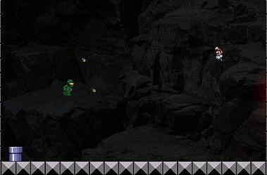 Master Chief takes on Mario