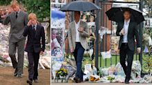 The pictures that show Harry and William at Diana memorial 20 years apart