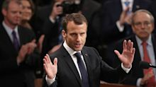 Without mentioning his buddy Trump by name, France's Macron just tore into the US president's policies