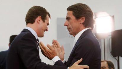 """Aznar: """"Casado tiene que confrontar con Vox como si el Gobierno no existiera"""""""
