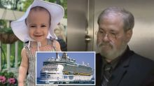Grandfather charged over toddler's cruise ship death speaks of anguish